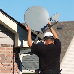 Установка комплекта спутникового ТВ